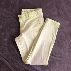lime green skinny mini khakis by gap